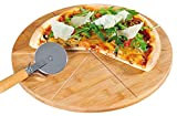 Kesper Pizzateller, Holz, braun, 32 x 32 x 5 cm