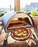 VENTURA Hybrid Pizzaofen IBRIDO, Gas oder Pellets, mobil, schwarz