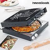 InnovaGoods Elektrisches Pizza-Backblech mit Rezeptbuch Presto, 1200 W, Schwarz