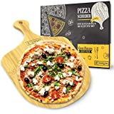 Garcon Pizzaschieber aus Holz für Pizzastein - Original Pizzaschaufel rund 30 cm Durchmesser für Pizza, Brot & Flammkuchen