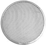 FMprofessional Pizza-Screen, Pizzablech mit Gitterstruktur, Unterlage für Tiefkühlpizza (Farbe: Silber), Menge: 1 Stück